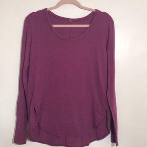 Lululemon pull over long sleeves shirt purple 8